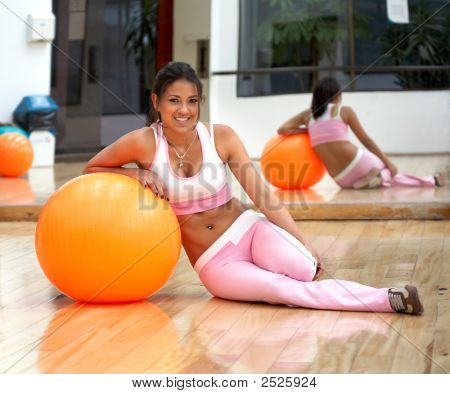 Girl Doing Pilates