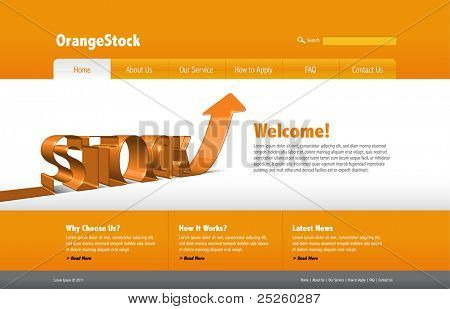 Vector Stock Website Template