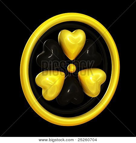 Heart Symbols Forming A Radiation Alert Sign