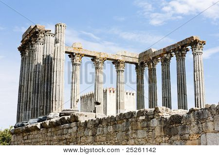 Roman temple of Diana, Evora, Alentejo, Portugal