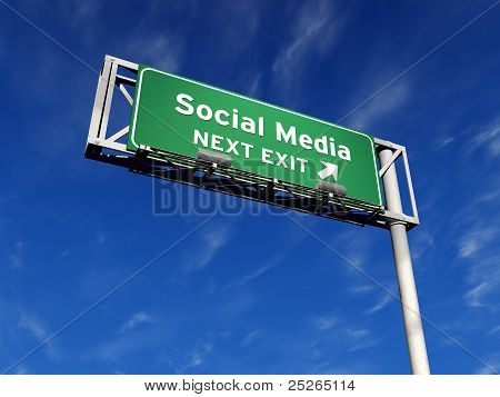 Social Media - Freeway Sign