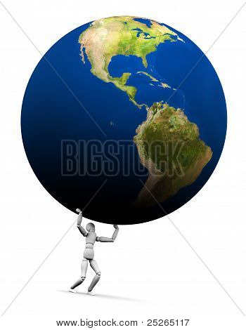 Man Lifting Earth (americas)