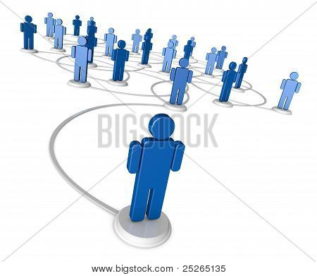 Soziales Netzwerk von Menschen