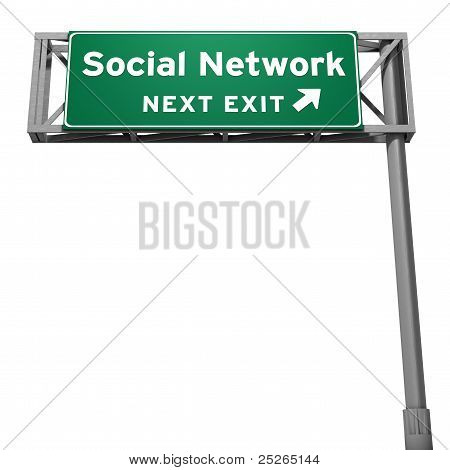 Social Network Freeway Exit Sign