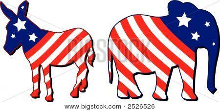 Ilustração do vetor de eleição americana