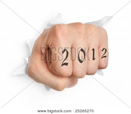 Hand With 2012 Tattoo