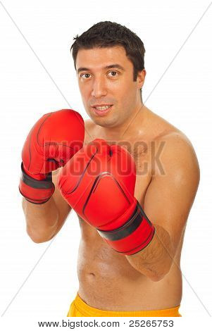 Boxer Man Training