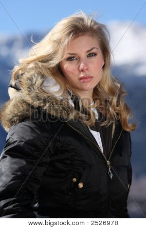 Blond Skier