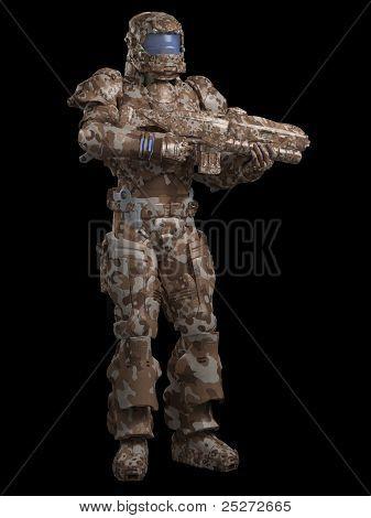 Space Marine Trooper in Desert Camo
