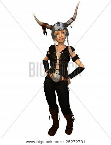 Cute Fantasy Viking Warrior Girl