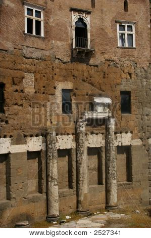 Windows And Doors Into The Ancient Rome Italy