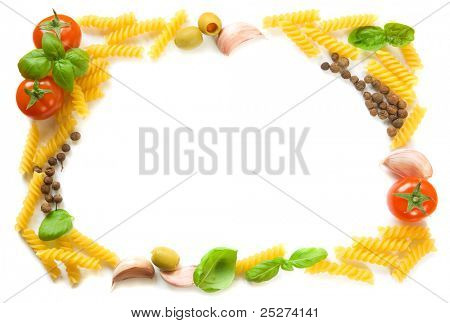 Pasta ingredients frame