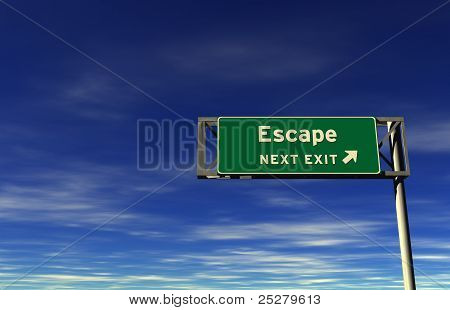 Escape - Freeway Exit Sign