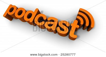 Podcast 3D Text entwerfen