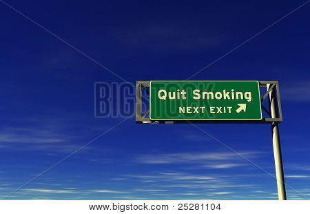 Quit Smoking - Freeway Exit Sign