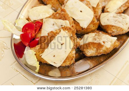 Cutlets with cheese