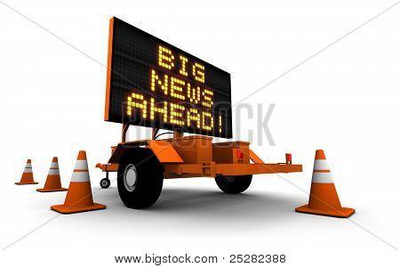 Große Neuigkeiten! -Zeichen Meldung