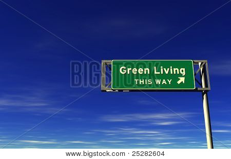 Green Living Freeway Sign