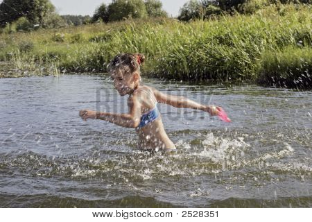 Girl In River.
