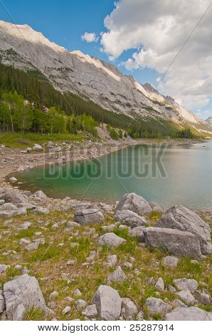 Beautiful Lake And Mountain Landscape