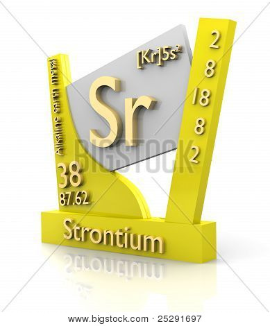 Strontium Form Periodic Table Of Elements - V2