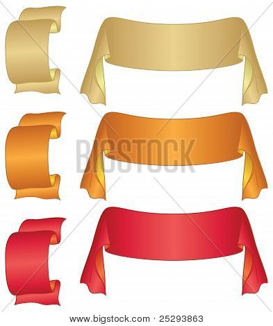 Banners ribbons, set