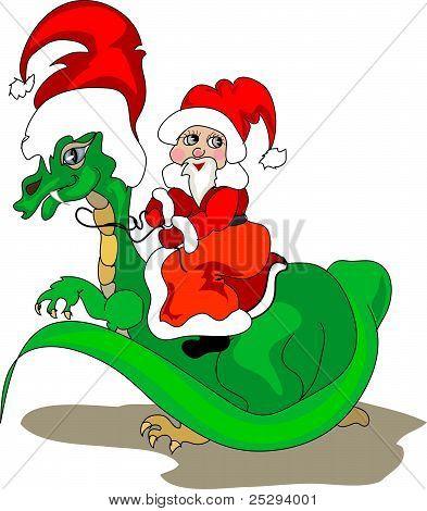 Riding Santa