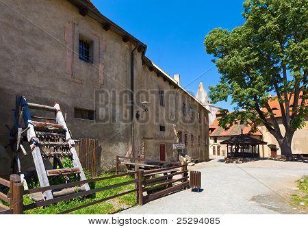 Krivoklat Castle Courtyard In Czech Republic