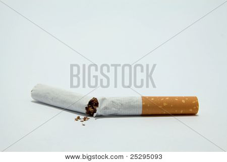 A Broken Off Cigarette