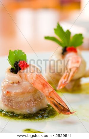 Shrimp Wrapped In Scallop
