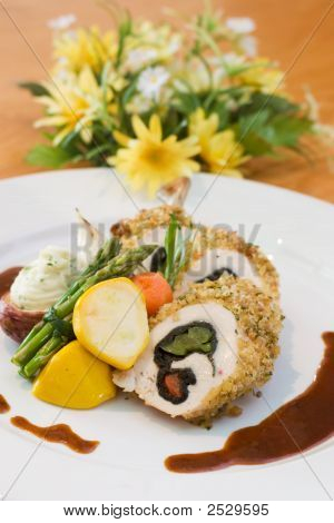 Breaded Chicken And Asparagus
