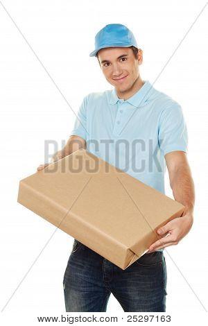 messenger of messenger delivers mail service package
