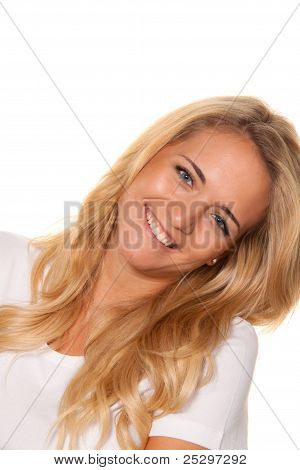 young nice woman. cheerful smile