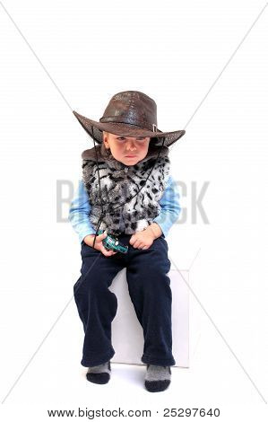 Child In Stetson Hat