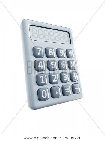 isolated 3d render of calculator