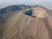 Aerial View Of Scenic Mount Vesuvius, Naples In Campania, Italy poster