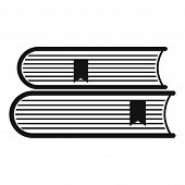 Book College Icon. Simple Illustration Of Book College  Icon For Web poster