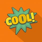 Comic Boom Cool Icon. Flat Illustration Of Comic Boom Cool  Icon For Web poster