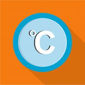 Celsius Icon. Flat Illustration Of Celsius  Icon For Web poster