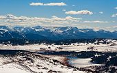 stock photo of beartooth  - View from Beartooth Pass close Yellowstone National Park - JPG