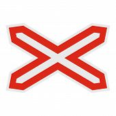 Crossed Line Icon. Flat Illustration Of Crossed Line  Icon For Web. poster