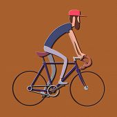 Cyclist Stylized Vector, Road Cycling, Cycling Tour, Cycling Track Bicycle poster