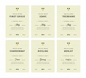 Special Collection Best Quality Grape Varieties And Premium Wine Brand Names Labels Emblems Abstract poster
