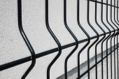 Black Grating Wire Industrial Fence Panels, Pvc Metal Fence Panel poster