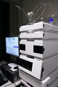 stock photo of chromatography  - Chromatograph for High Performance Liquid Chromatography  - JPG