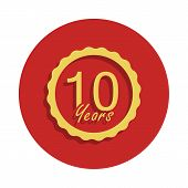 10 Years Anniversary Sign. Element Of Anniversary Sign. Premium Quality Graphic Design Icon In Badge poster