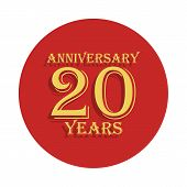 20 Years Anniversary Sign. Element Of Anniversary Sign. Premium Quality Graphic Design Icon In Badge poster