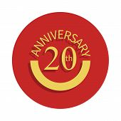 20 Anniversary Sign. Element Of Anniversary Sign. Premium Quality Graphic Design Icon In Badge Style poster