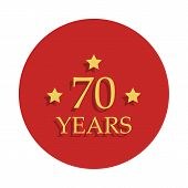 70 Anniversary Sign. Element Of Anniversary Sign. Premium Quality Graphic Design Icon In Badge Style poster