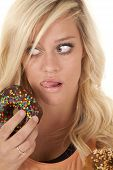 Woman Licking By Donut